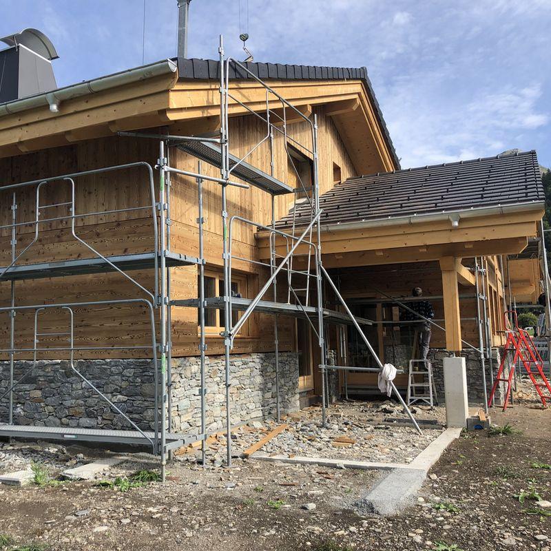 Construction d'un chalet maçonné