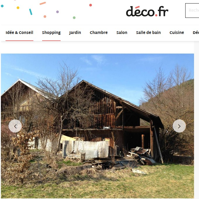 Press articles - before/after in deco.fr