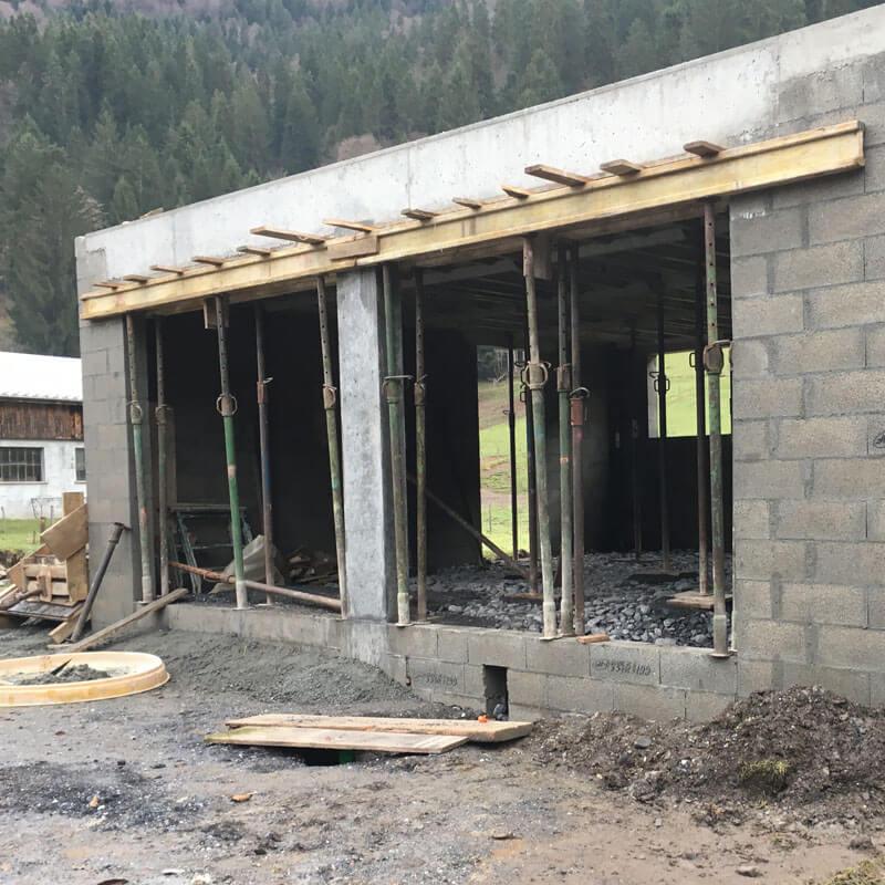 Construction d'un atelier